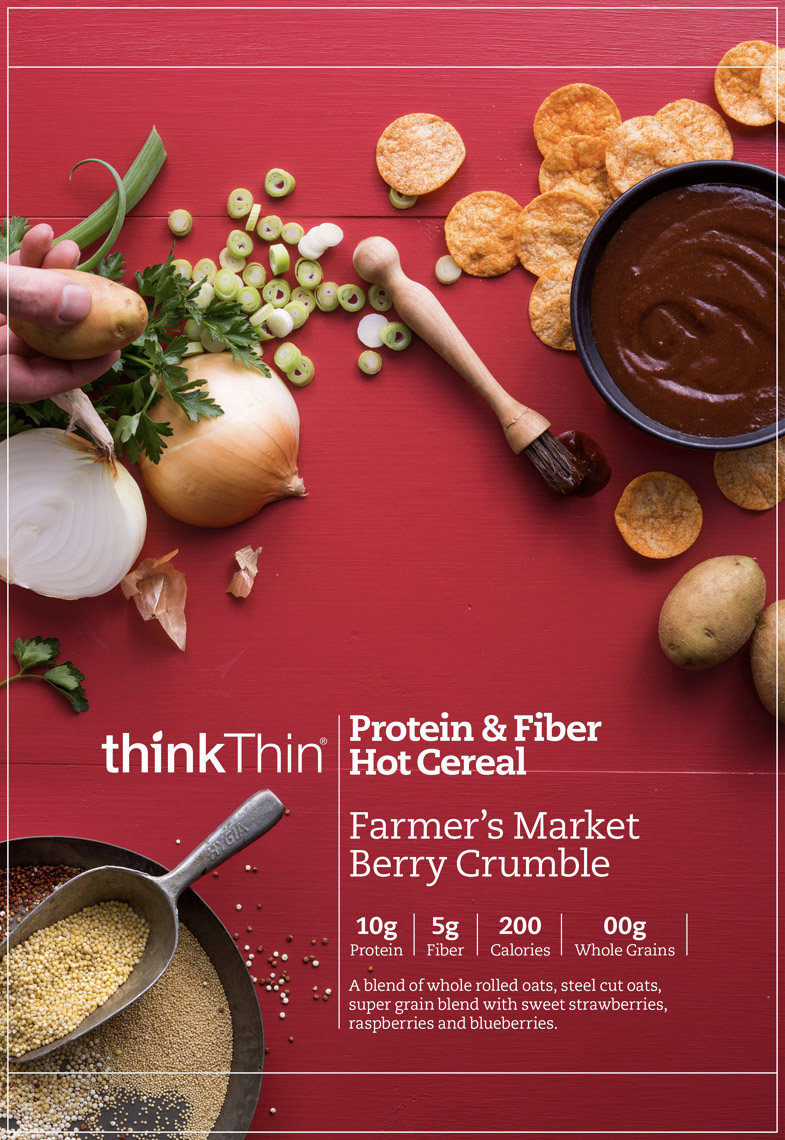 food stylist in San Francisco - bbq chips for Think Thin photographed by Eva Kolenko photographer