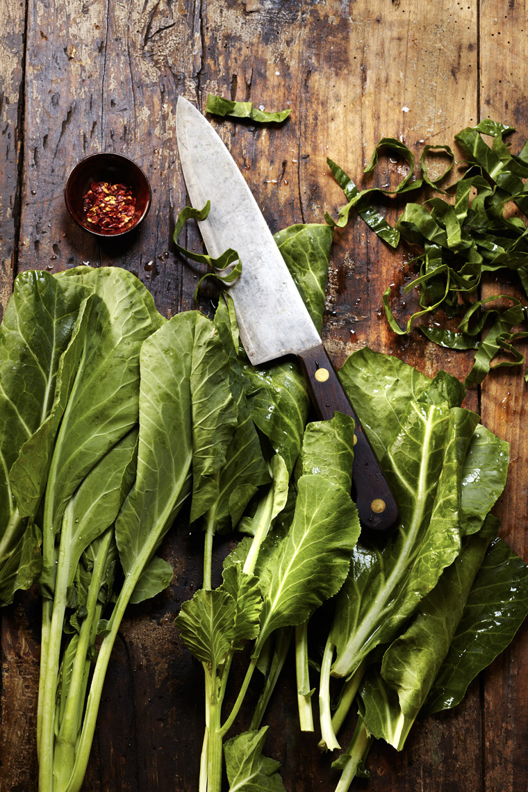 food stylist in San Francisco - Collard Greens Neeley