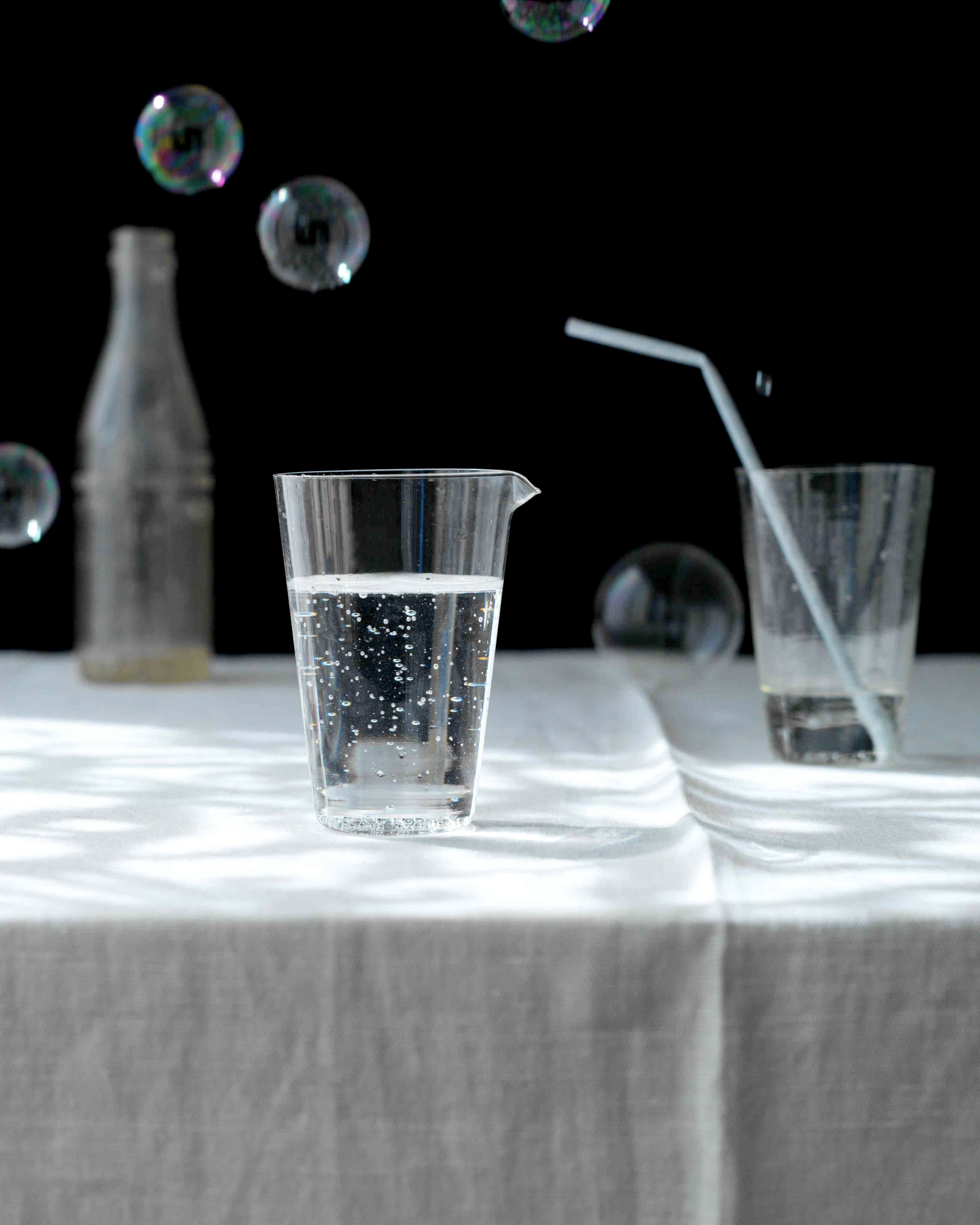 food stylist in San Francisco - water glasses with bubbles: photographed by Laurie Frankel photographer
