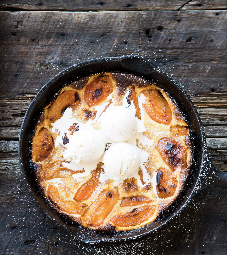 food stylist in San Francisco - Apricot Clafoutis Dessert of the Day cookbook by Weldon Owen photographed by Kim Laidlaw Photographer