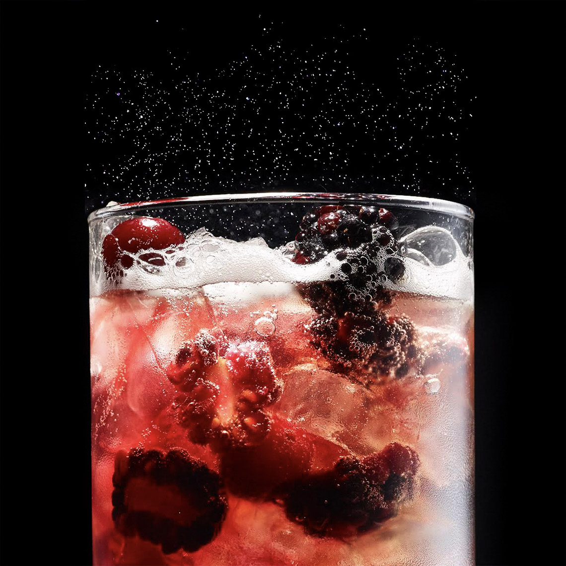 food stylist in San Francisco - Cranbery berry soda, photographed by Maren Caruso photographer
