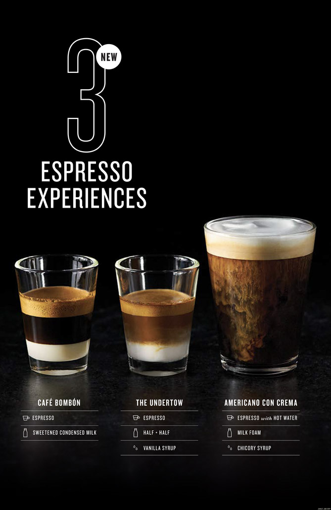 food stylist in San Francisco - Specialty espresso drinks Peet