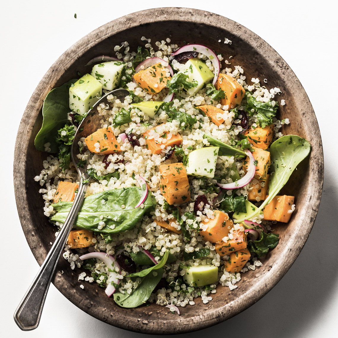 food stylist in dallas - Quinoa and sweet potato salad for Central Market banner Advertising Manny Rodriguez photography