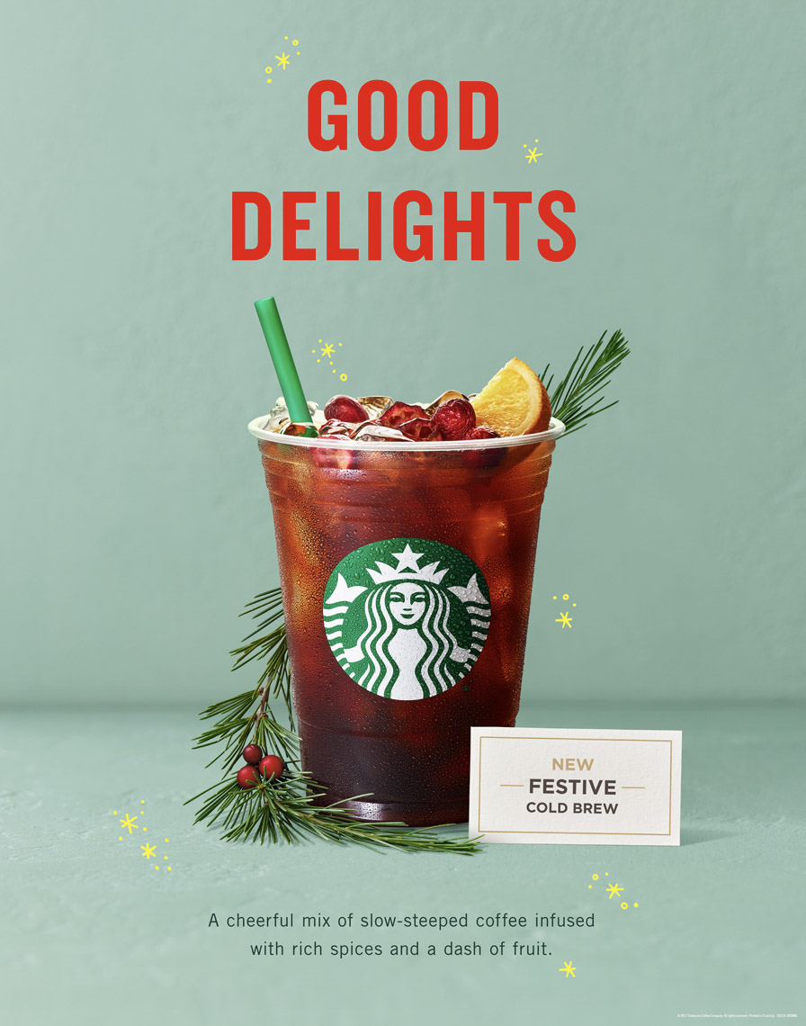 food stylist in San Francisco - Holiday Cold brew coffee Starbucks Coffee - Saudi Arabia photographed by Annabelle Breakey photographer