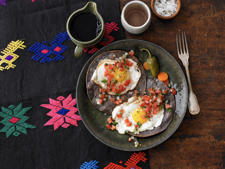 food stylist in San Francisco - Juevos Rancheros for Quick and Easy Mexican Cooking - Cecilia Hae-Jin Lee, photographed by Leigh Beisch