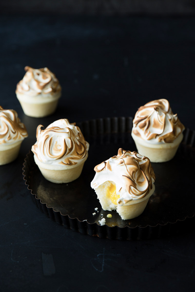 food stylist in San Francisco - lemon meringue cupcakes Let us All eat Cake cookbook - Catherine Ruehle author photographed by Erin Kunkel Photographer