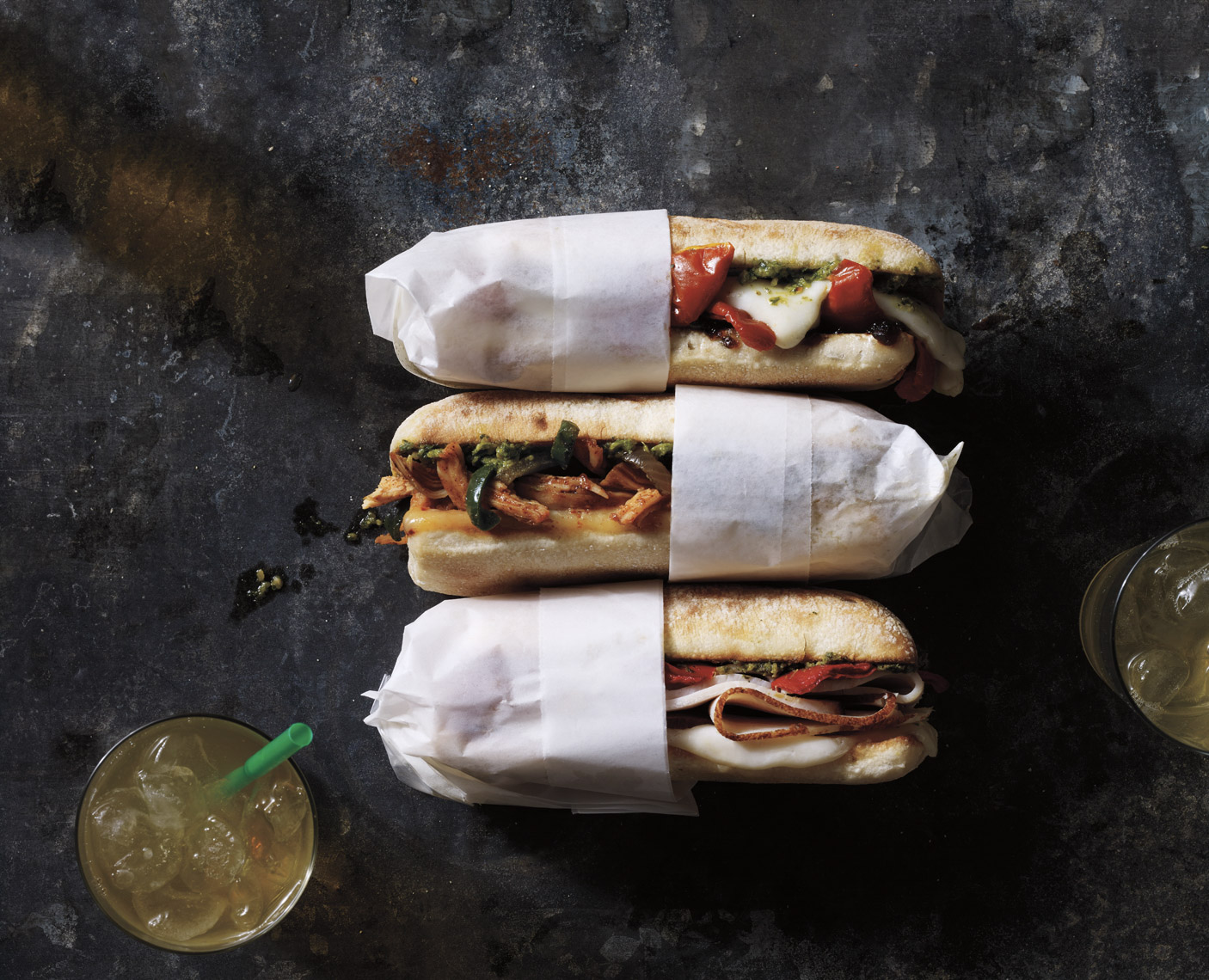 food stylist in Chicago - Starbucks hot sandwiches, photographed by Dan Goldberg photograper