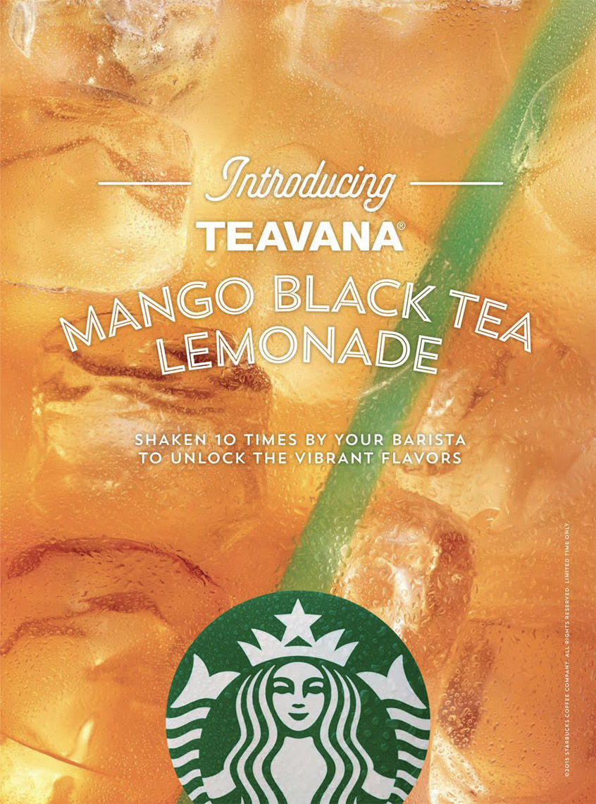food stylist in Los Angeles - Iced lemon and black tea Starbucks advertising photographed by Maren Caruso photographer