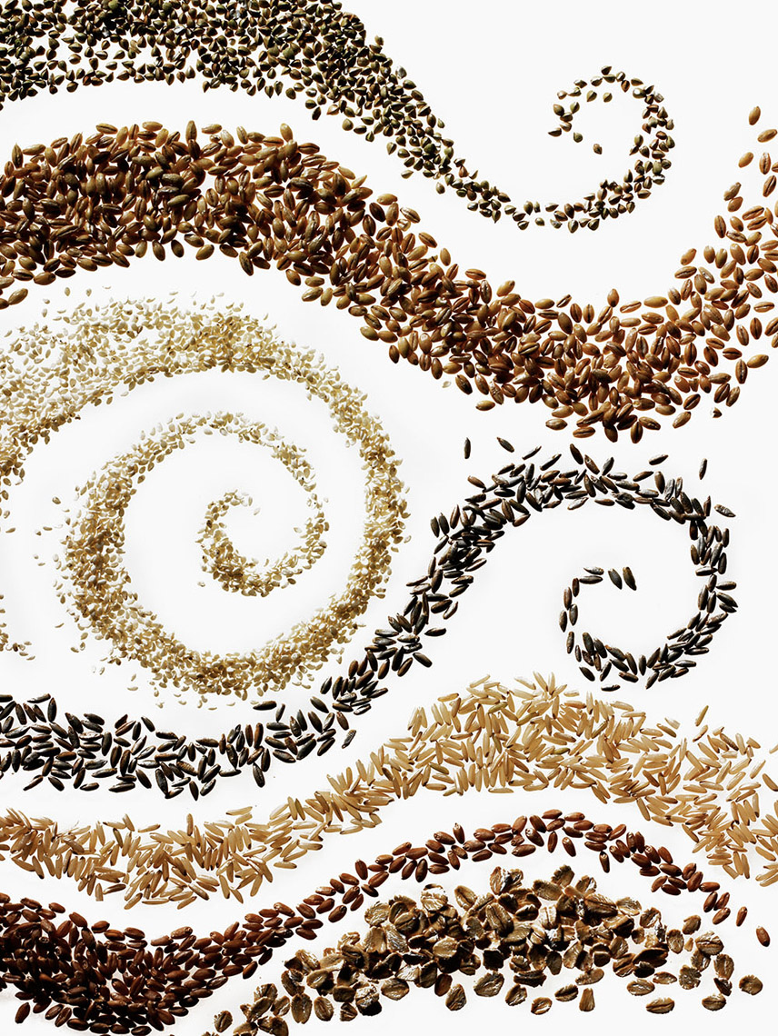 Robyn Valarik San Francisco Based Food & Drink Stylist - cereal, ingredients, grains, Kashi, conceptual, abstract, motion, five-whole-grains, food-photography