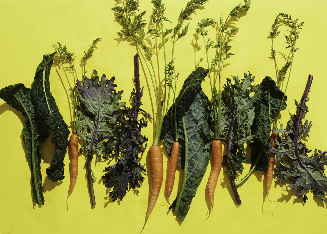 Robyn Valarik San Francisco Based Food & Drink Stylist - Lacinto-kale, kale, carrots, organic, greens, food-photgraphy
