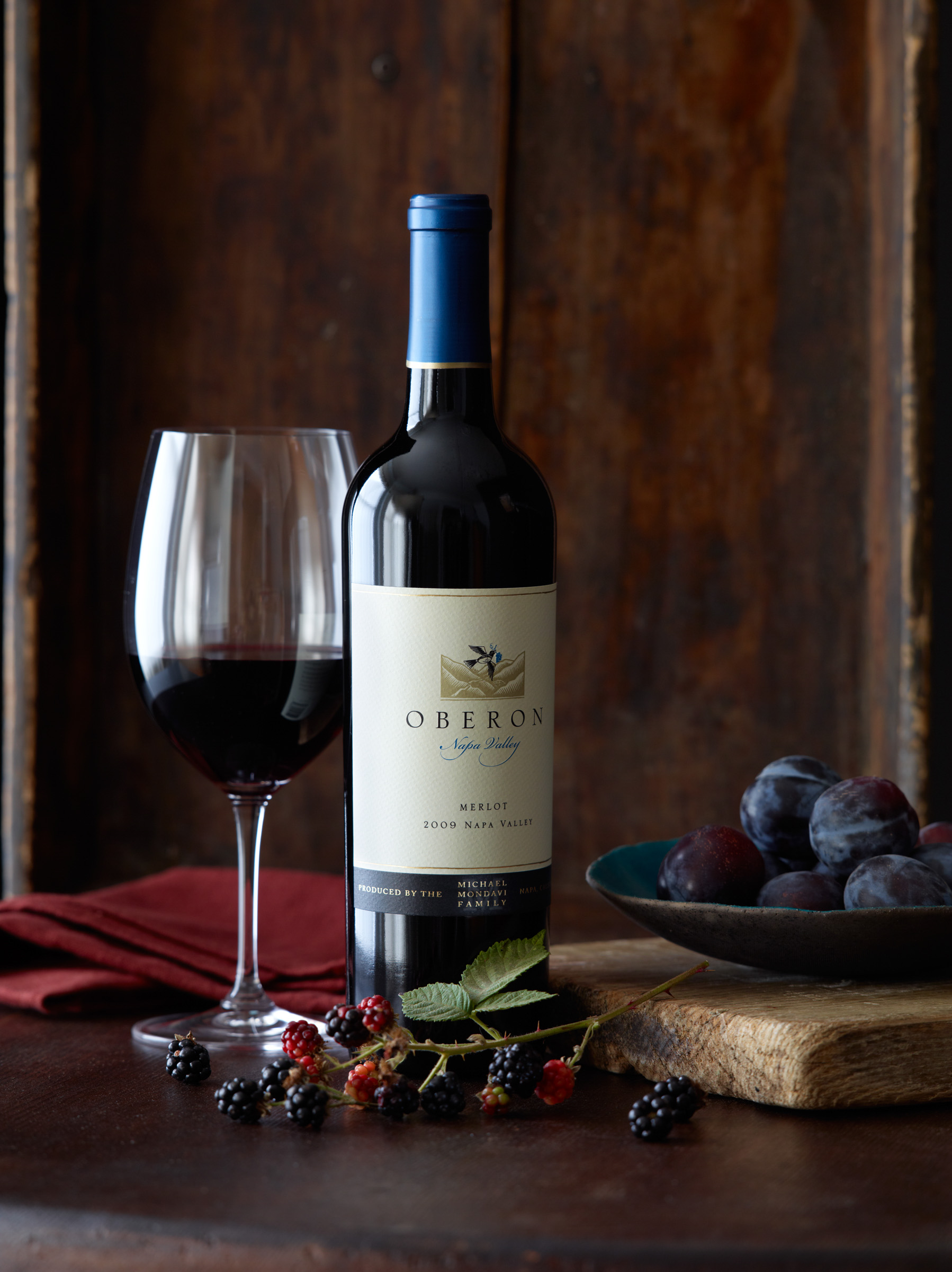 food stylist in San Francisco - Merlot Oberon Wine advertising photographed by Leigh Beisch photographer