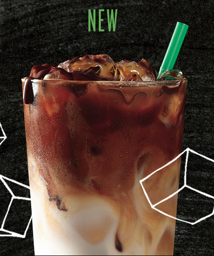 food stylist in San Francisco - Iced cold brew with cream Starbucks menu boards advertising photographed by Dan Goldberg photographer